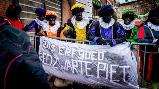 Pietenprotest bij intocht Leiden